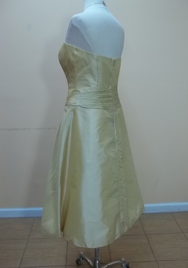 Alyce Paris Gold Taffeta 1166 Formal Bridesmaid/Mob Dress Size 12 (L)