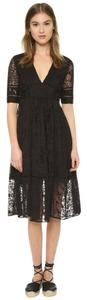Free People short dress Black Floral Lace Midi on Tradesy