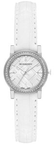 Burberry Burberry Women's BU9221 Diamond Bezel Alligator White Band.