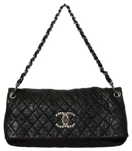 Chanel Distressed Leather Shoulder Bag