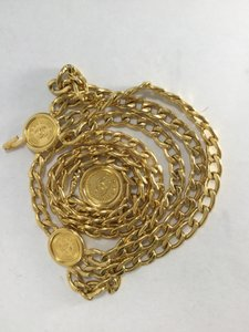 Chanel Chanel Gold Tone Triple Strand Chain Link Medallions Belt