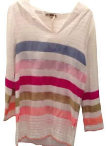 lemlem Pink Blue Tan Orange Coral Tunic