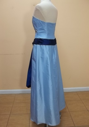 Alyce Paris Sky Blue/Navy Taffeta 1196 Formal Bridesmaid/Mob Dress Size 12 (L)