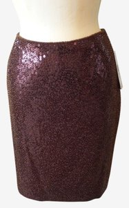 Carmen Marc Valvo Skirt Brown