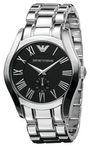 Emporio Armani Emporio Armani Black Dial Stainless Steel Bracelet Men's Watch 43mm AR0680