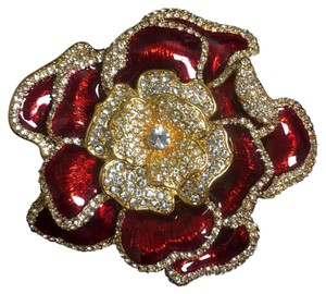 Joan Rivers Elegance In Bloom Pave Rose Pin