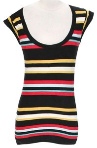 French Connection Striped Scoop Neck T Shirt