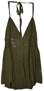 American Eagle Outfitters Knit Halter Top Olive