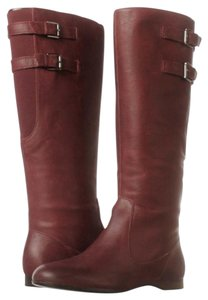Enzo Leather Knee High Angiolini Nwt Burgundy Boots