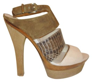 Pelle Moda New Leather Platform Tan Platforms