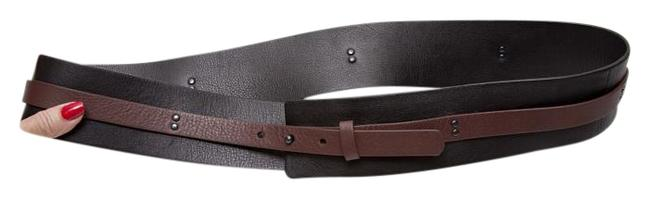 Item - Black and Brown Wide Leather Belt