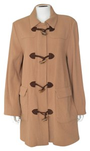 Talbots Ribbed Wool Toggle Pea Coat
