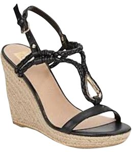 Dolce Vita Black Sandal Black/gold Wedges