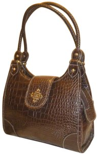 Marc Chantal Croc New Multi Pocket Shoulder Bag