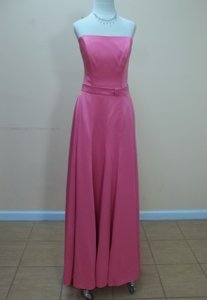 Dessy Punch Satin 2855 Formal Bridesmaid/Mob Dress Size 10 (M)