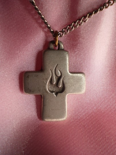 Other Vintage silver cross w/dove