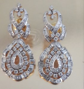 Authentic Diamond Earrings
