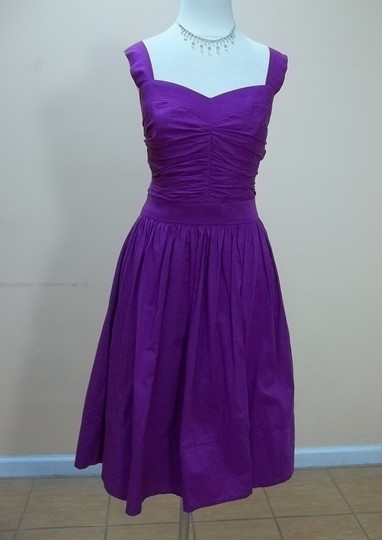 Dessy Persian Plum Cotton 2856 Formal Bridesmaid/Mob Dress Size 10 (M)
