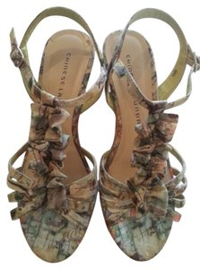 Chinese Laundry Wedge Cork Wedges Green Sandals