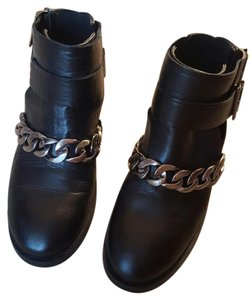 Zara Givenchy Chain Strappy Ankle Black Boots