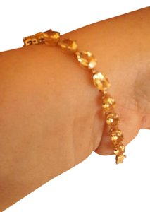 Citrine bracelet in 10K yellow gold. Gorgeous Citrine bracelet in gold