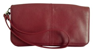 Wilsons Leather Wristlet Mini Red Clutch