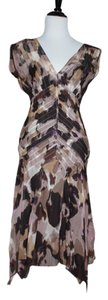 Diane von Furstenberg short dress Brown Dvf Silk on Tradesy