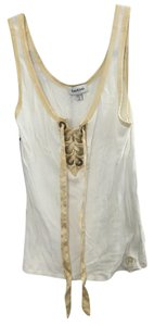bebe Top White/gold