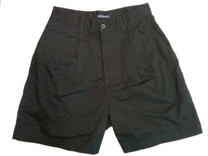 Dockers Pleated No Wrinkles Size 6 Bermuda Shorts Black