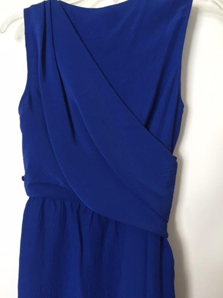 Ali Ro Azzure Hammered Silk Grecian Above Knee Night Out Dress Size ...