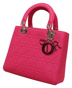 Dior Lady Tote in Hot Pink