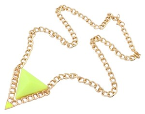 Other Lime Color Triangle Nekclace!
