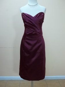 Dessy Ruby Satin 8112 Formal Bridesmaid/Mob Dress Size 12 (L)