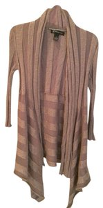 INC International Concepts Cardigan Open Pewter Sweater