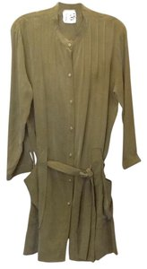 Twelfth St. by Cynthia Vincent Silk Shirt Date Work Safari Dress