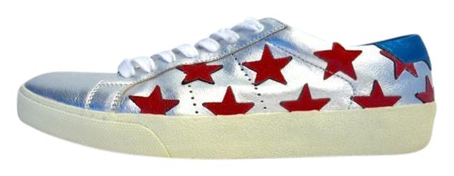 Item - Silver Red Turquoise Sneakers Size US 8 Regular (M, B)