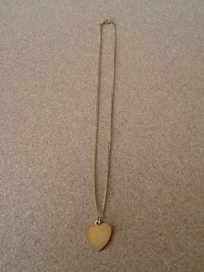 Other Gold Tone Heart Necklace