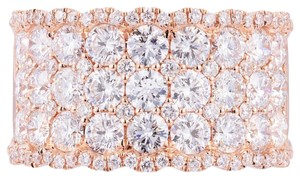 Avi and Co 3.00 cttw Round Brilliant Cut Diamond Pave Wedding Band 18K Rose Gold