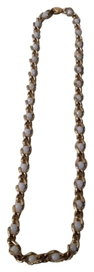 Other Gold Tone And Faux Pearl Necklace