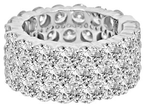 Avi and Co 11.88 cttw Round Brilliant Cut Diamond Three Row Eternity Band 14K White Gold