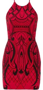 Parker Bodycon Black And Red Dress