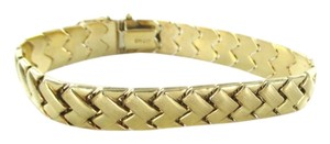 10KT YELLOW GOLD WEAVE PATTERN LINK BRACELET FINE JEWELRY JEWEL GM 417 DESIGNER