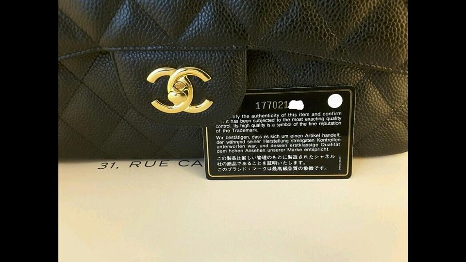 af2e5138082e9d Chanel Flap Classic Caviar Quilted Jumbo Gold Hrw Black Leather Shoulder  Bag - Tradesy
