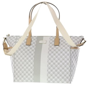 Kate Spade Stripes Adaira Grey (020) Diaper Bag