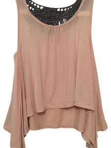 Topshop Top Light pink qnd gray/silver