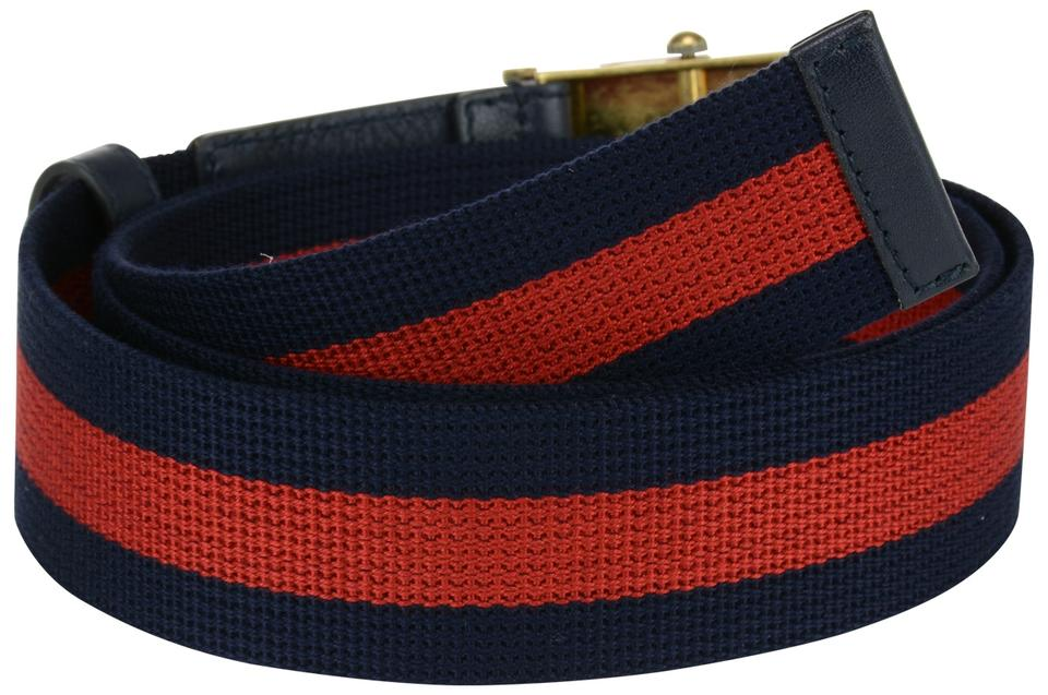 e6fe44448 Gucci Navy Canvas Web with Bee Buckle Multiple Sizes Belt - Tradesy