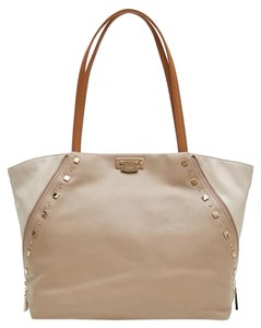 Roberto Cavalli New Collection Leather Tote in beige