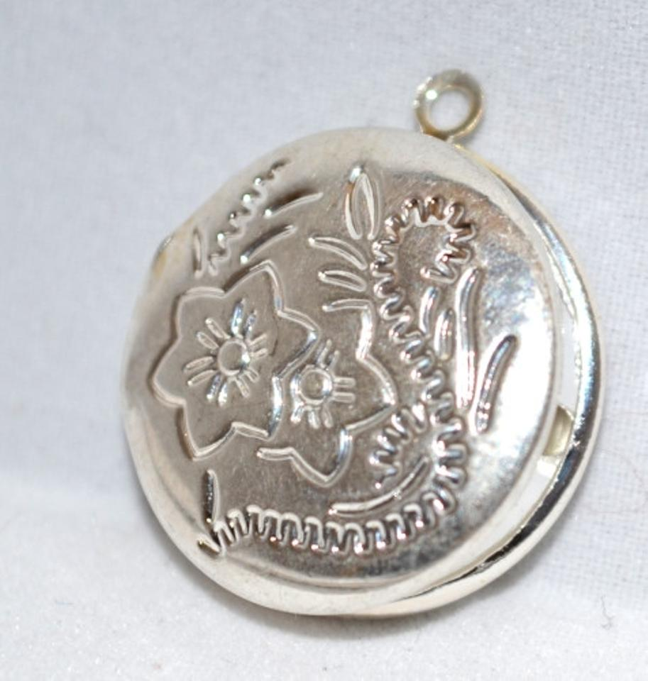 Silver 23 x 20mm plated etched pendant charm tradesy silver 23 x 20mm plated etched pendant charm aloadofball Images