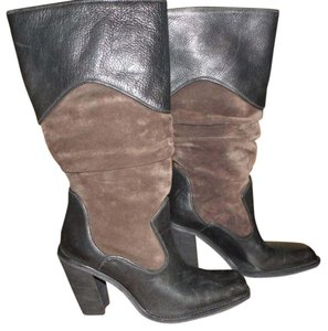 Antonio Melani Leather Suede Cowboy Cowgirl Chocolate Brown Boots