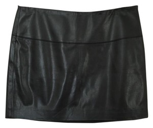 Express Chic Leather Mini Skirt Black